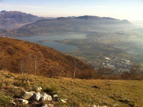 view from monte barro alta brianza lake
