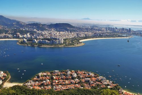 view from sugarloaf seascape bay guanabara-on rio