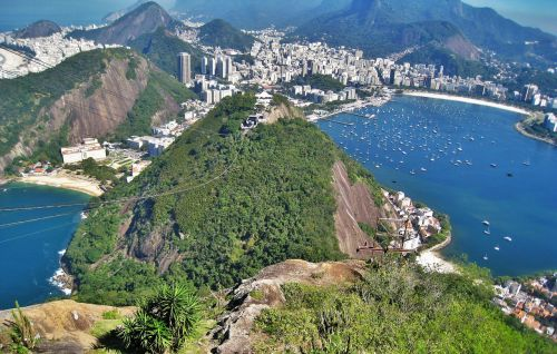 view from sugarloaf urca hill rio