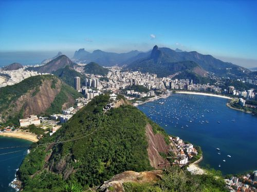 view from sugarloaf views of corcovado rio de janeiro