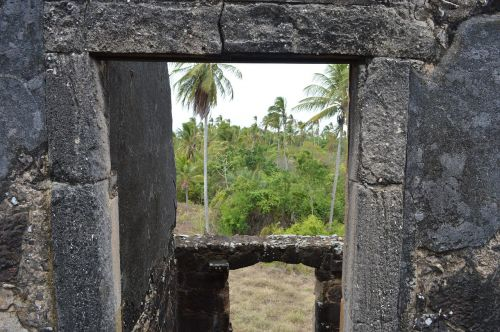 view from the window of the castle strong beach bahia