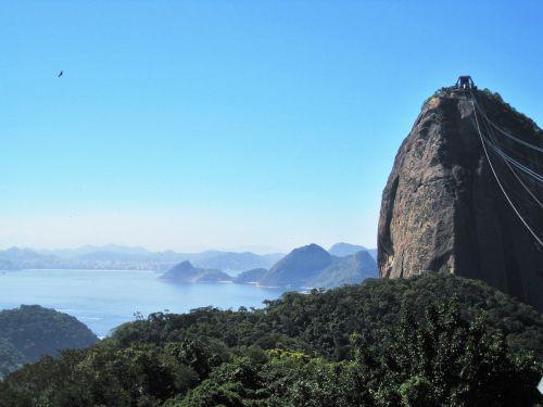 view of sugar loaf-top guanabara bay rio de janeiro