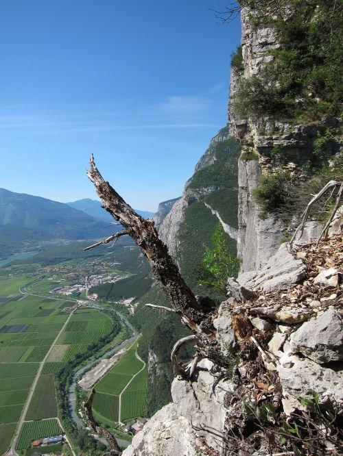 view of the valley sarche ferrata
