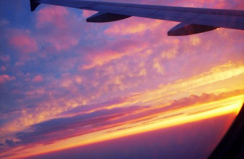 View Out Of Jet Window