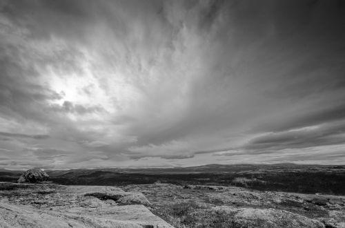 views mountain gray