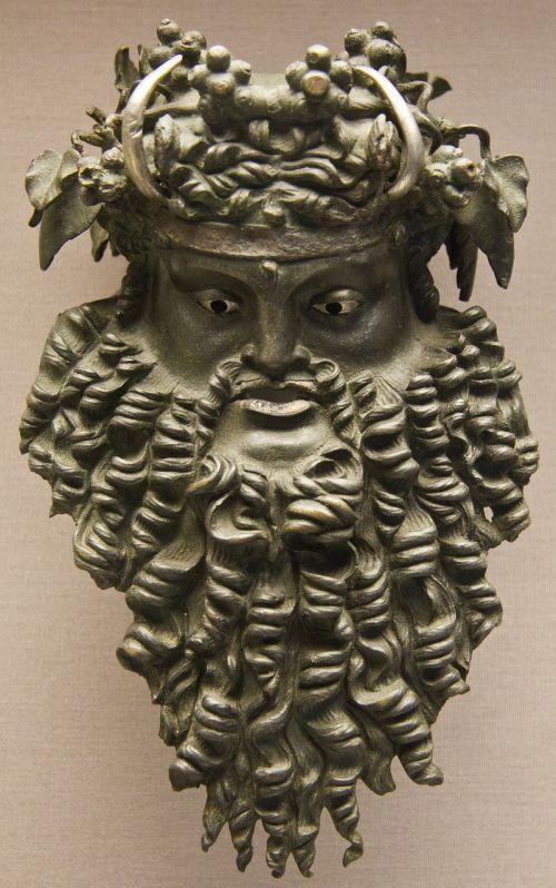 viking bronze head