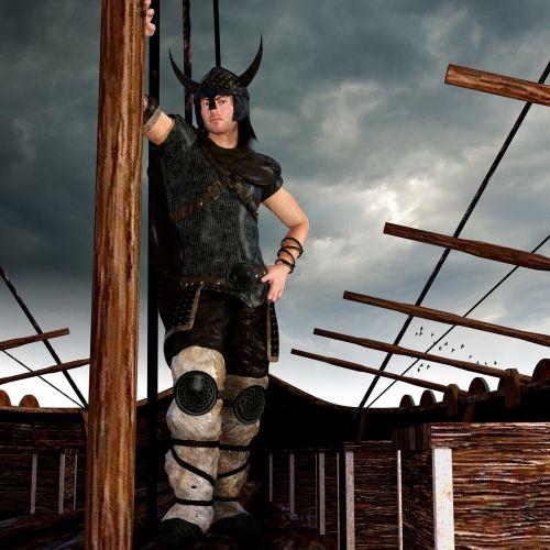 vikings ship warrior