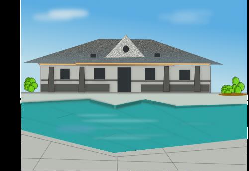 villa pool swimming