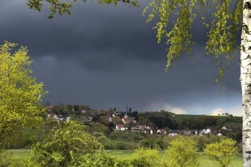 village landscape sky