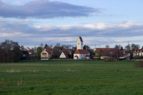 village upper swabia landscape