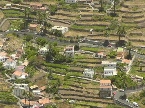 village landscape terraces