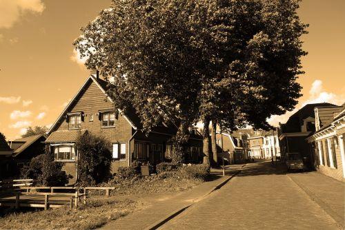 village rural village street