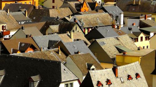 village roofs pushed