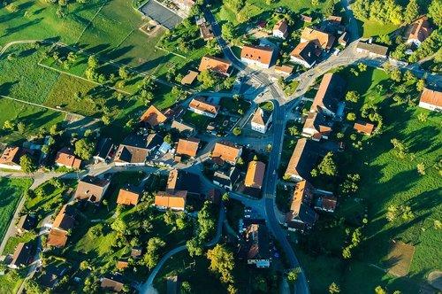 village  aerial view  switzerland