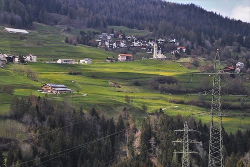 village  electric poles  the voltage
