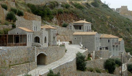 kaimas, akmuo, Graikija, architektūra, pastatai, šventykla, architektūra, klasikinis, Viduržemio jūros