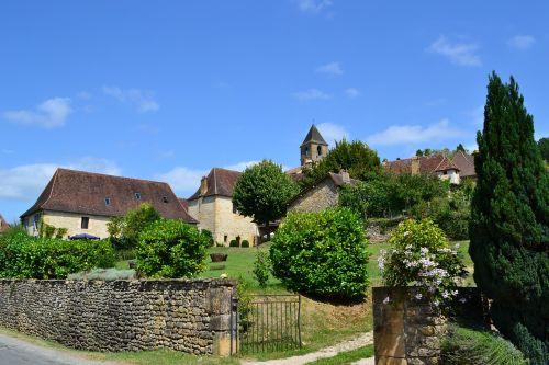 village medieval village houses