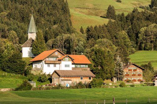 village farming village landscape