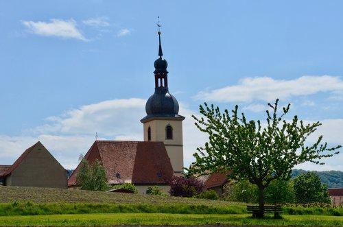 village church  steeple  church