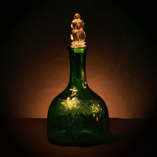 vinegar jar green glass bottle