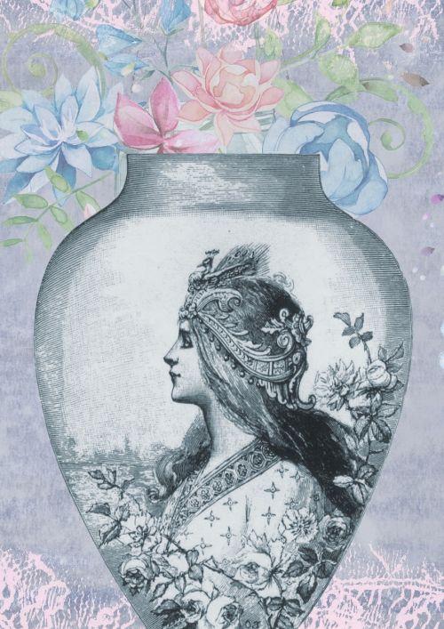vintage vase pot