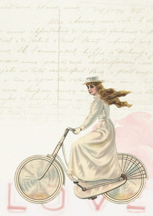 vintage girl bicycle