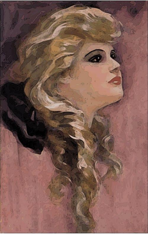 vintage,moteris,1920,mergaitė,Moteris,Lady,portretas,grožis,Šviesiaplaukis,raudona,senas,rosa
