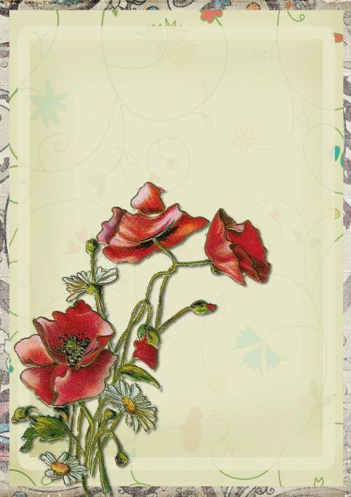 vintage background red