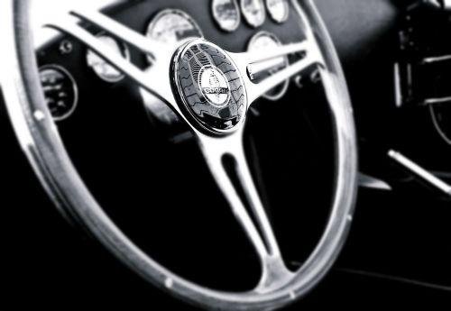 vintage car steering wheel