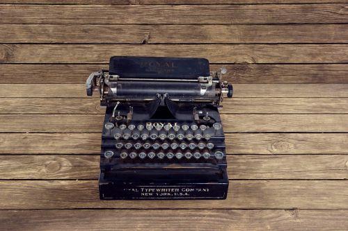 vintage typewriter write