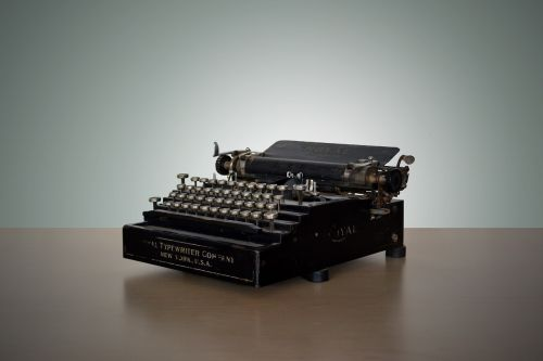 vintage typewriter write