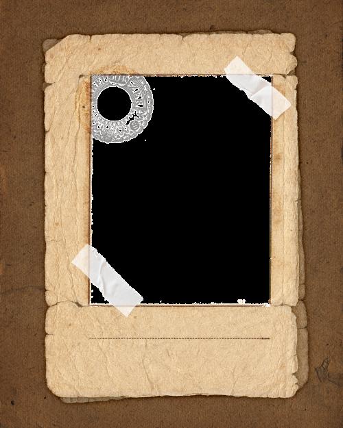 vintage paper frame image