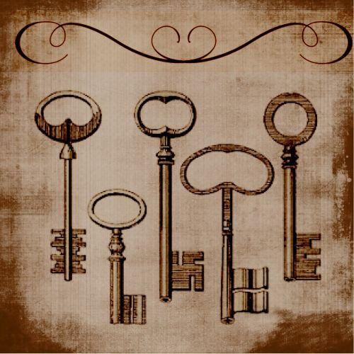 vintage old keys