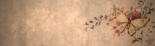 vintage butterfly banner