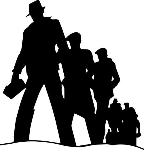 vintage retro silhouette
