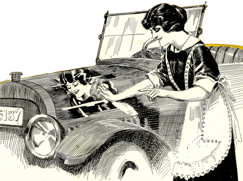 vintage car washing