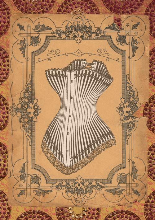 vintage corset art