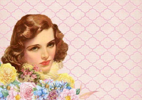 vintage background lady