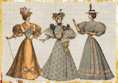 vintage fashion victorian