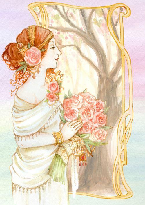 vintage lady romantic