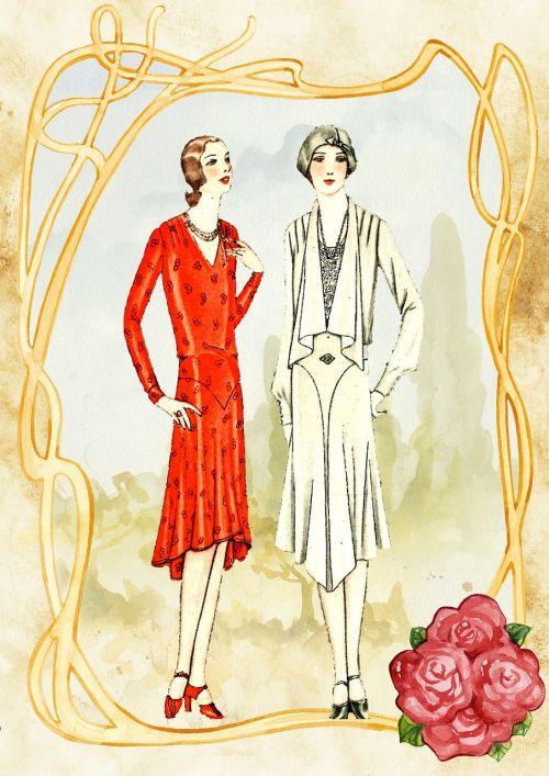 vintage ladies romantic