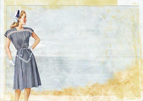 vintage lady fashion