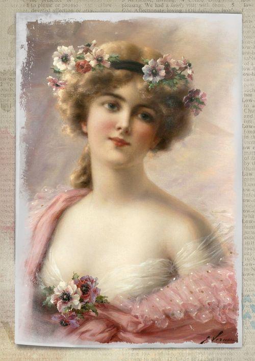 vintage woman art