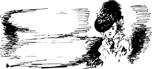 vintage black and white sketch