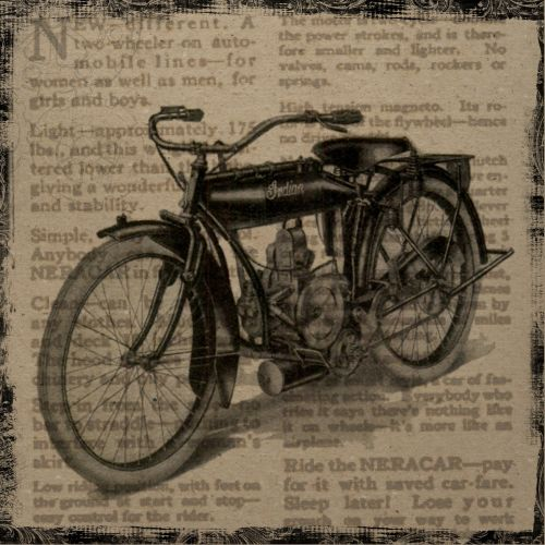 vintage collage motorcycle