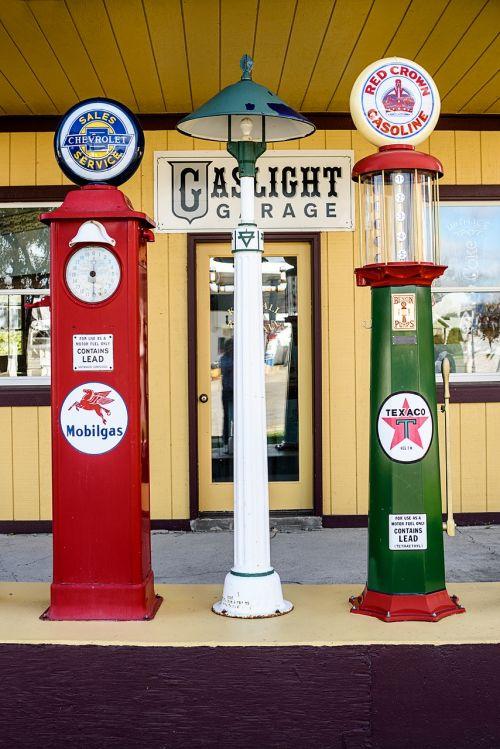 vintage gas pumps retro