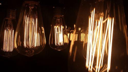 vintage bulb bulb in darkness