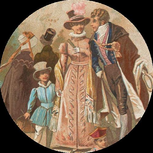vintage victorian tag