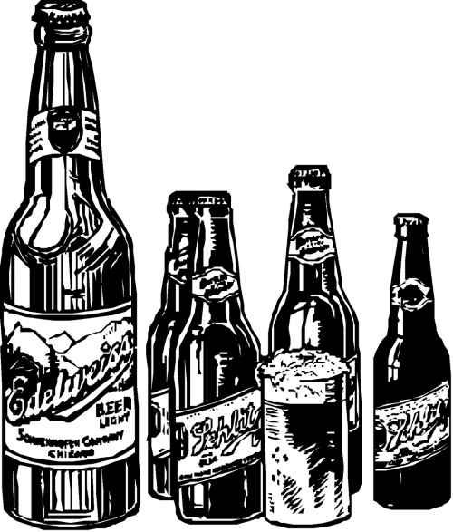 vintage clip art beer