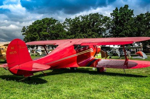 vintage  biplane  airplane